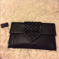 Woman's handbag Obo Very cute handbag with black studs and gold shoulder strap  brand new HD BY M Bags Clutches & Wristlets