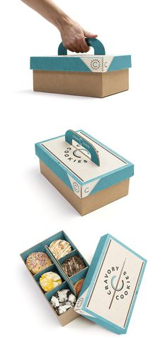 Developed for Cravory Cookies by Bex Brands— Easy carry box. Perfect for holiday parties or gifts.