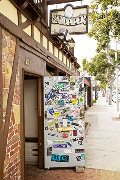 """19 Stellar Spots In Laguna Beach For A Rad Road Trip #refinery29 http://www.refinery29.com/what-to-do-in-laguna-beach#slide14 A.K.A. """"The Dirty Bird,"""" Sandpiper Lounge may be as old as the town itself! This dive bar is a must-hit for the late-night, live performances. The Sandpiper Lounge, 1183 South Coast Highway (at Brooks Street); 949-494-4694. Photographed by Hailley Howard"""