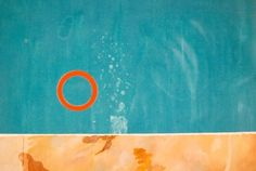 rubber ring floating in a swimming pool - david hockney 1971