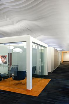 Architectural | Ceiling Systems | Atmosphera 3D by ARKTURA - Office corridor in Santa Cruz, CA