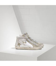 new product 5bdd0 e1e87 Golden Goose Slide Sneakers In Leather With Suede Star Womens - Golden  Goose Outlet www.getggdb.com