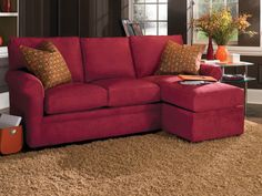 Charming Red Sofas for Gorgeous Living Room: Wonderful Modern Style Shocking Red Sofas Living Room Furniture