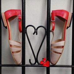 Red and pink sandals