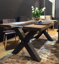 Contemporary Industrial Furniture In Our Stunning New Table With Heavy Industrial Metal Base An Unusual Central Glass Panel 32 Best Contemporary Industrial Furniture Images On Pinterest
