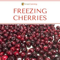 Tray of frozen cherries. Apple Recipes, Meat Recipes, Freezing Apples, Frozen Cherries, Grilled Meat, Preserves, Cherry, Projects To Try, Tray