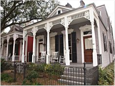 Shotgun Double Camel Back in New Orleans Garden District. www.nolahomes.net