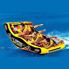 SportsStuff U-Slalom 3 Towable Boat Tube Person Boat Tubes, Lake Toys, Water Tube, Inflatable Boat, Boat Accessories, Pool Floats, Water Activities, Am Meer, Wakeboarding
