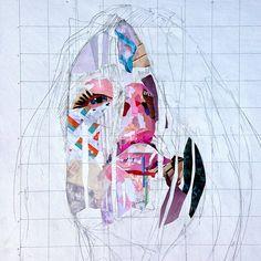 """""""Work in progress... #collage #collageportrait #portrait"""" Patrick Bremer"""