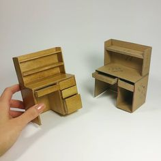 Love when a project turns out according to plan Tutorial will be up tomorrow! . . . . . . #diyproject #project #college #desk #miniatures #mini #miniature #tiny #cute #crafts #tutorial #craft #crafty #doityourself #roomdecor #dorm #furniture #design #creative #interior #diy #table #dollcrafts #wood #handmade #howto