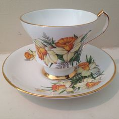 Vintage Society Bone China Tea Cup and Saucer by TheDaintyBullet, $18.00