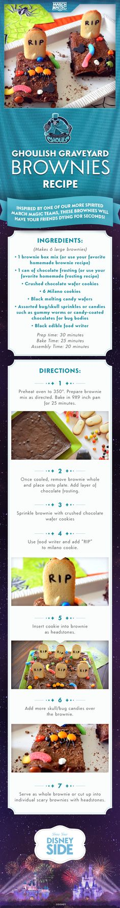 Check out theses Ghoulish Graveyard Brownies inspired by the Gracey ...