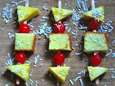 Pineapple Pound Cake Skewers