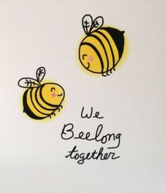 Your place to buy and sell all things handmade We Bee Long Together Bee Valentines Day Card, Bee Doodle, Bee Pun Card, Love Card, recycled card and envelope by ladybugonaleaf on Etsy Love Doodles, Happy Doodles, Abrir Cuando Ideas, Bee Puns, Tarjetas Diy, Pun Card, Valentine Day Cards, Valentines Day Cards Puns, Valentine Messages