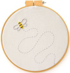 Bee Embroidery Pattern - Bee's Knees Industries Blog | Art, Crafts, Tutorials, Printables and More for Kids and Adults Alike