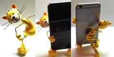 DIY Gato Soporta móvil en porcelana Fría