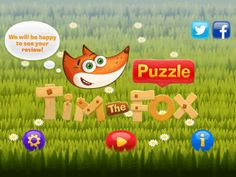 Tim the Fox is a free iPad kids jigsaw puzzle game for kids of age 3 or above to solve jigsaw puzzles. It consists of 12 jigsaw puzzles to play. Jigsaw Puzzles For Kids, Puzzle Games For Kids, Alphabet Games, Age 3, Tiles, Ipad, Fox, Iphone, Wall Tiles