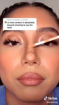 Nose Makeup, Contour Makeup, Eyebrow Makeup, Skin Makeup, Baddie Makeup, Edgy Makeup, Glamour Makeup, Nose Contouring, Make Up Contouring