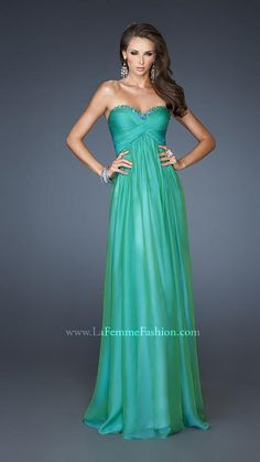 { 18935 | La Femme Fashion 2013 } La Femme Prom Dresses - Evening Gown - Open Triangle Back - Spring Colors