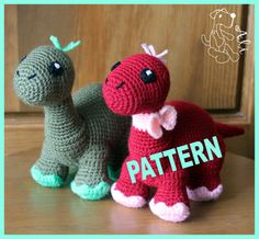 Crochet dinosaur  Pattern in PDF by Hafik on Etsy, $4.90