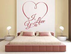 Stickers Spécial St Valentin ... #zonestickers #sticker #autocollant #adhésif #artmural #wallart #stickermural #deco #decoration #interieur #maison #salon #chambre #SaintValentin #Amour #Coeur #Love #ILoveYou #Romantique