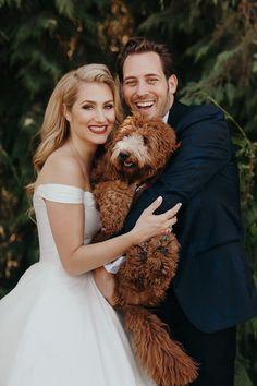 Labradoodle Family Wedding Photo // Jordan Voth Photography