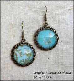 boucles d'oreilles vintages turquoise