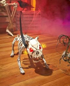 Skeleton Watchdog Halloween Home Decor Sound Touch Activated One Mean Ugly Dog…