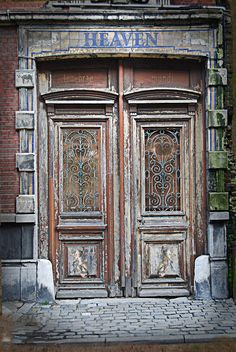 Heaven's Door (by Teddy Lambec) ~ nice old glass and doors, angels too