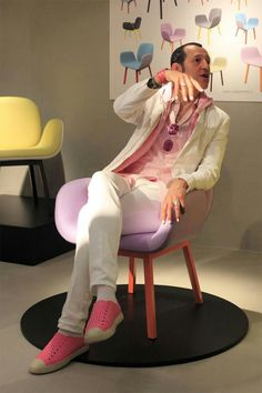 """Karim Rashid """"Work hard. Remember that work is what counts. Don't chase fame, chase originality. Chase innovation, chase beauty.""""  (product, brand, packaging)"""