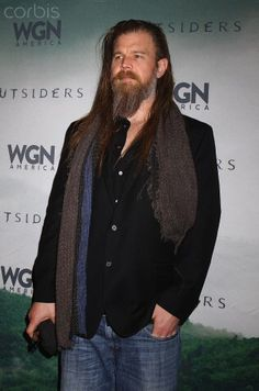 Ryan attends the screening for new upcoming series Outsiders in WGN.