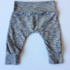 3-6 months grey marl baby leggings, harem leggings, girls leggings, boys leggings, baby pants, baby harems, baby harem pants, joggers