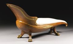 A gilt-bronze-mounted mahogany daybed possibly Austrian, 19th century