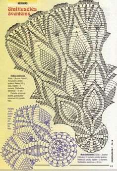 croche: Two doily with pineapple