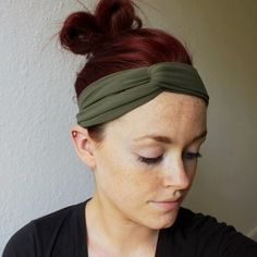 DIY Wrap Headband from Tights Tutorial from Encourage Fashion here. Beyond easy - all you need are a pair of tights and a button. There is a written and video tutorial for this DIY. For more DIY headbands go here and for more headpieces go here.