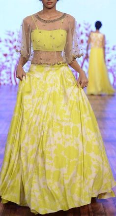 Pinterest: @Littlehub  || Dreamy Lehenga's ❤•。*゚  || Lehenga with a cape. Isn't this lovely ♥