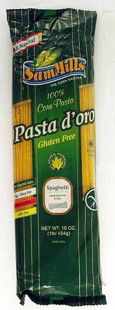 Sam Mills Spaghetti Corn Gluten-Free Pasta d'oro (best gf pasta on the planet... You won't miss a thing!)