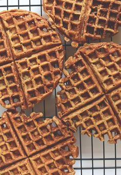 Pumpkin Spice Latte Waffles   @Dana Curtis Shultz   Minimalist Baker
