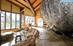 A stay at this unique stone luxury rental in South Lake Tahoe will make for a Californian vacation never to be forgotten. Step into the cavernous, stone living room, and look out to the woodlands and mountains of the Tahoe Basin and the Sierra Nevada. Guaranteed that with one glance, guests will never want to leave this special glamping accommodation, ready to accommodate up to twelve people at one time, making it an ideal spot for a family reunion, a friends' getaway, or a group event or…