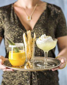 Cocktail ananas-rhum et martini citron meringué Meringue, Martini, Milkshake, Panna Cotta, Cocktails, Ethnic Recipes, Desserts, Food, Xmas