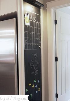 DIY Kitchen Chalkboard – Make a chalkboard in your kitchen to stay organized, have meal suggestions and more!
