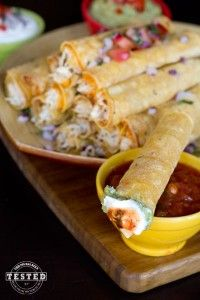 Cream Cheese Chicken Taquitos - Made From Pinterest