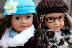 18 inch doll free sewing pattern for winter hat mittens (love the one made from recycled sweaters!)