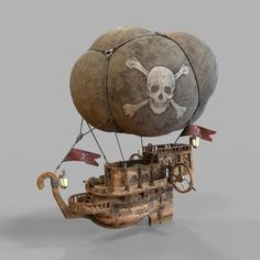 Airship pirates by Native format model also it has the format FBX, OBJ.The model has resolution range to 20482048 texture maps Steampunk Airship, Steampunk Lamp, Dieselpunk, Fantasy Model, 3d Fantasy, Steampunk Machines, 3d Figures, Steampunk Design, Punk Art