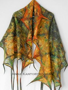 Hey, I found this really awesome Etsy listing at https://www.etsy.com/listing/164988190/felted-scarf-shawl-early-autumn-handmade