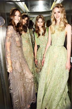 Josephine Le Tutour, Antonina Petkovic, Julie Hoomans and Deva Reeb    Elie Saab F/W15 Couture