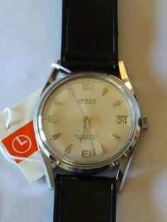 d6ade8ee54c Vintage rare Lanco Swiss watch 760.34 25j Automatic Incabloc New in Box  with tags men s wristwatch - Gift for him -Anniversary gift