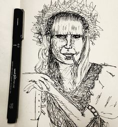 Nanquim sobre papel - de Melissa Oliveira - 2016