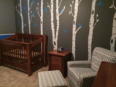 Outdoor theme baby room  - wall stickers found on etsy