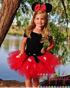 Minnie Mouse Tutu Three Piece Set by MyaPapayaBoutique on Etsy